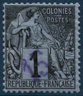 ** N°1 15 Sur 1c Noir/azuré NSG  - TB - Dedeagh (1893-1914)