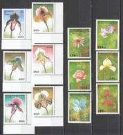 B729 1995,1997 DE GUINEE FLORA FLOWERS ORCHIDS !!! 2SET MNH - Orchids