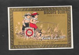 Chromo Doréchromo Doré Lith BOGNARD Biscuits OLIBET ''nous Aurons Une Jolie Friture..''    7,5x11 OTTIMO STATO - Confetteria & Biscotti