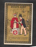 Chromo Doréchromo Doré Lith BOGNARD Biscuits OLIBET ''heureusement Que Malgré..''   7,5x11 OTTIMO STATO - Confetteria & Biscotti