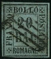 Obl. N°9 20b Gris-vert, Infime Pelurage - B - Romagne