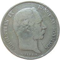 LaZooRo: Denmark 2 Kroner 1876 F / VF - Silver - Danemark
