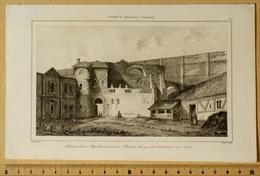 Gravure 13x21cm, Restes D'un Aqueduc Romain à Arcueil Tels Qu'ils Existaient En 1784. Aqueduc Médicis, Eau De Paris. - Gravures
