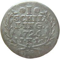 LaZooRo: Germany - HAMBURG - 1 Schilling 1726 F / VF - Silver - [ 1] …-1871 : Etats Allemands