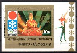 HONGRIE. BF 91 De 1971. Bouddha/J.O. De Sapporo/Patinage. - Buddhism