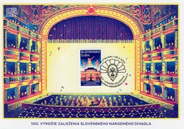 Slovakia - 2020 - 100th Anniversary Of Slovak National Theatre - Special Commemorative Sheet - Slowakische Republik