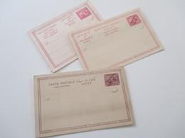 Ägypten Um 1900 Carte Postale / Doppelkarte 3 Stück Ungebraucht! 2x Mit Aufdruck - 1866-1914 Khedivate Of Egypt