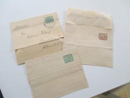 Ägypten Um 1900 Drei Streifbänder 2x Ungebraucht / 1x Gestempelt Alexandrie Nach Brandenburg Havel - 1866-1914 Khedivate Of Egypt