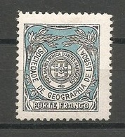 Portugal Franchise Afinsa 6 Sociedade De Geografia Mint / MH / * 1924 Signed X 2 - Franchise