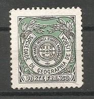 Portugal Franchise Afinsa 8 Sociedade De Geografia Mint No Gum / MNG / (*) 1927 - Franchise