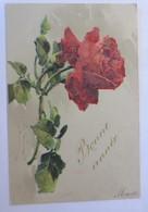 Künstlerkarte C. Klein, Blumen, Rosen, 1902, Prägekarte, Glitzerperlchen♥(60614) - Klein, Catharina