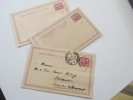 Ägypten 1900 Ganzsachen 2x Postkarte / 1x Doppelkarte Ungebraucht Davon 1x Gebraucht An Das Deutsche Konsulat Alexandrie - 1866-1914 Khedivate Of Egypt