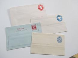 Victoria Canada Postage / Kanada 2x Ganzsachen Umschläge 3 Stück / 1x Letter Card / 1x Streifband Ungebraucht! - Briefe U. Dokumente