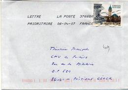 France N° 4029 Y. Et T. La Poste 37668A Flamme Muette Du 06/04/2007 - Marcophilie (Lettres)