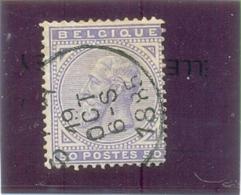1863  BELGIQUE Y & T N° 41 ( O ) 2 X - 1869-1883 Leopold II.