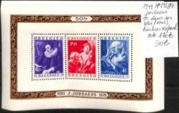 [107033]TB//**/Mnh-c:170e-Belgique 1949 - N° 792/94, Jordaens, SC Dans Son Bloc (*/mn) Timbres **/mnh - Belgique