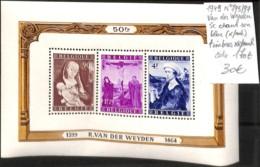 [107034]TB//**/Mnh-c:170e-Belgique 1949 - N° 795/97, Van Der Weyden, SC Dans Son Bloc (*/mh) Timbres **/mnh - Belgique