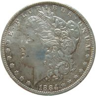 LaZooRo: United States 1 Dollar 1884 About XF / UNC Incuse 'die Clash' - Silver - Federal Issues