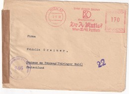 AUTRICHE 1950 LETTRE CENSUREE EMA DE WIEN - Machine Stamps (ATM)