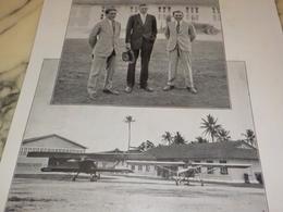 PHOTO LES VAINQUEURS DE L ATLANTIQUE NORD COSTE LINGBERG LE BRIX 1928 - Aviation Commerciale