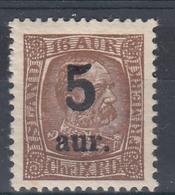 +Iceland 1922. Provisory. AFA / MICHEL 104. MNH(**) - Nuovi
