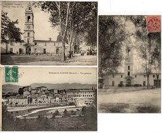 GANGES - 3 CPA - Place De La Mairie - Place De L' Hotel De Ville - Environs De Ganges - Vue Générale (842 ASO) - Ganges