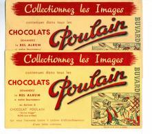 PUB  - 2  BUVARDS CHOCOLATS POULAIN - Cocoa & Chocolat