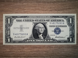 1957-B UNITED STATES SILVER CERTIFICATE $1 (( GEM UNC )) - Certificats D'Argent (1928-1957)
