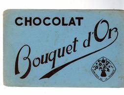 PUB  -  BUVARD CHOCOLATS Bouquet D'Or - Cocoa & Chocolat