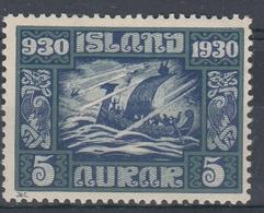+Iceland 1930. ALTING. AFA / MICHEL 126. MH(*) - Nuovi