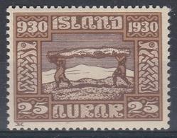 +Iceland 1930. ALTING. AFA / MICHEL 131. MH(*) - Nuovi
