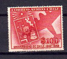 Chili 1942 Poste Aerienne Yvert 68 ** Neuf Sans Charniere. Armoiries. - Chile