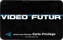 VIDÉO FUTUR CARTE ABONNEMENT CARTE PRIVILÈGE 3 ADRESSES A AIX EN PROVENCE 13 BOUCHES DU RHÔNE VARIANTE VERSO - Subscription