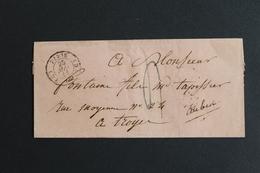 1841 PARIS CAD TYPE 15 DU 25/05/1841 POUR TROYES CAD ARRIVEE TYPE 13 TAXE MANUSCRITE SANS CORRESPONDANCE - 1801-1848: Precursores XIX