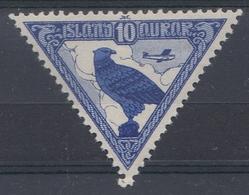 +Iceland 1930. ALTING. Airmail. AFA / MICHEL 140. MH(*) - Posta Aerea