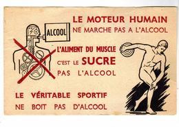 PUB  -  BUVARD Publicitè Anti Alcool - Sport