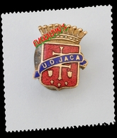 Insigne à Sabot (1950), Football, Union Deportiva JACA,  Espagne, 3 Scans, Boutonnière - Football