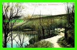 SHERBROOKE, QUÉBEC - VIEW ON MAGOG RIVER - MONTREAL IMPORT CO - TRAVEL - - Sherbrooke
