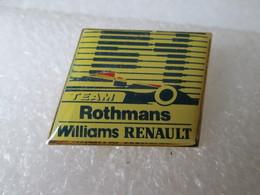 PIN'S   WILLIAMS  RENAULT ROTHMANS  FORMULE 1 - Renault