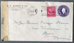 USA - Entier 3 Cents + Complément 1945 - Censure - De New York à Paris - (C1317) - 1941-60