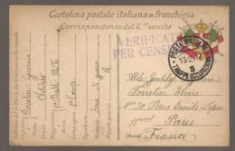 CARTE DRAPEAUX POSTA MILITARE TRUPPE OCCUPAZIONE 3 / CENSURA / 9EME BATTAGLIONE ALBANIA   C274 - Albanie