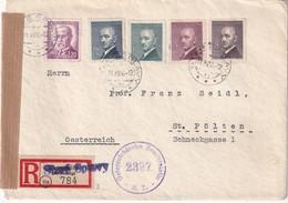 TCHECOSLOVAQUIE 1946 LETTRE RECOMMANDEE CENSUREE DE STARE SPLAVY - Briefe U. Dokumente