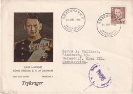 DANEMARK 1948 LETTRE ILLUSTREE CENSUREE DE KOBENHAVN - Denmark