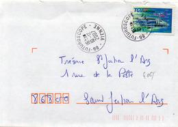 France N° 4061 Y. Et T. Vienne Futuroscope Cachet A9 Du 10/12/2007 - Marcophilie (Lettres)