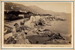 Italia, Riviera Di Levante, Nervi, Riva Del Mar,C. Degoix, Genova, Formato Gabinetto,1880 - Anciennes (Av. 1900)