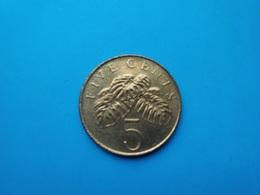 SINGAPOUR   -  5 Cents   1997   -- SUP --    SINGAPORE - Singapur