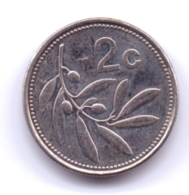 MALTA 2004: 2 Cents, KM 94 - Malta
