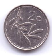 MALTA 1998: 2 Cents, KM 94 - Malta
