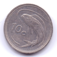 MALTA 1991: 10 Cents, KM 96 - Malta