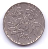 MALTA 1986: 25 Cents, KM 80 - Malta